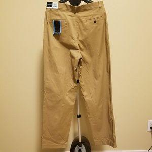 NWT Nautica Dress Blues Tan Plain Front Pants 20R